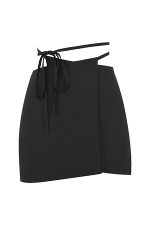 'Pixie' Black Wrap Front Mini Skirt - Mistress Rock