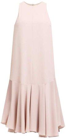 PAISIE - Drop Waist Halterneck Dress With Ruffle Hem
