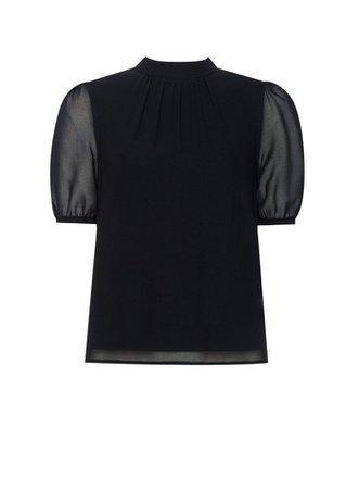 **Billie & Blossom Petite Black Puff Sleeve Top | Dorothy Perkins