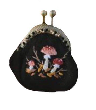 Ellen Tyn Embroidered Mushroom Purse