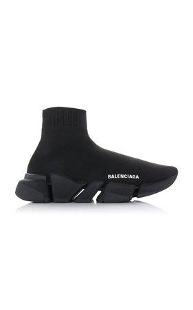 Stretch-Knit High-Top Sneakers by Balenciaga   Moda Operandi