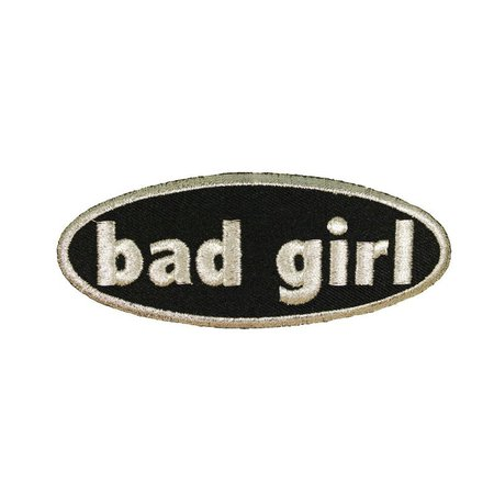 Bad Girl Silver Name Tag Patch Saying Symbol Sign Embroidered | Etsy