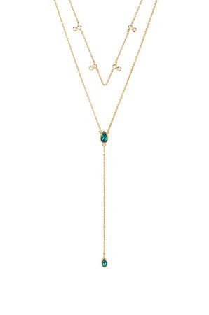 Double Tear Drop Layered Necklace