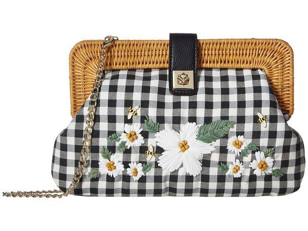 Betsey Johnson - Daisy'd Confused Clutch (Black) Clutch Handbags