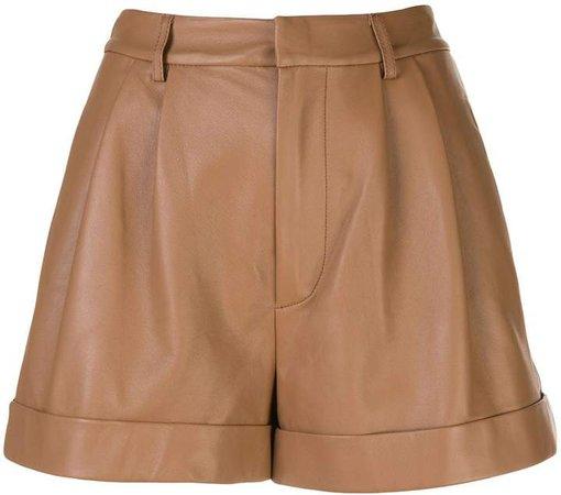 Alice+Olivia Conry leather shorts