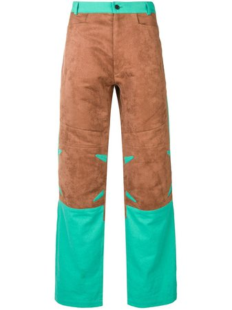 Mackintosh 0004 Chestnut & Turquoise 0004 Technical Trousers - Farfetch