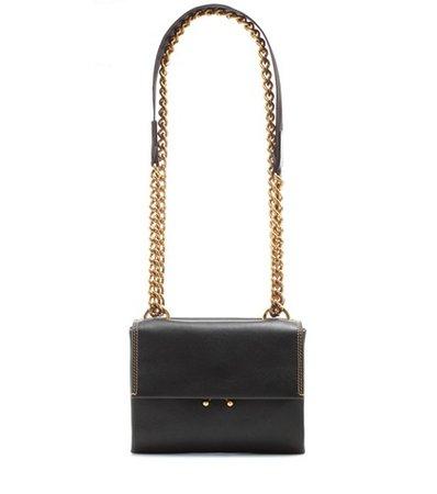 Wallet leather shoulder bag