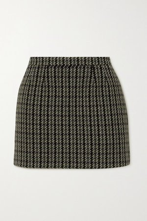 Wool-blend Tweed Mini Skirt - Black