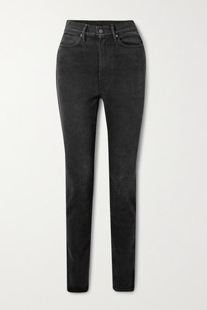 High-rise Slim-leg Jeans - Black