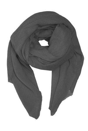 Oversized grey scarf - Besos Scarves