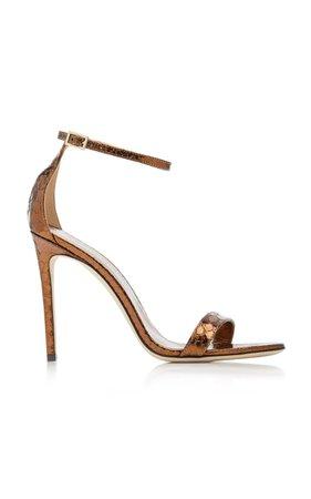 Nudist Python-Effect Leather Sandals By Paris Texas   Moda Operandi