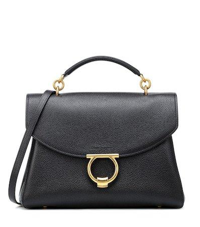 Gancini leather shoulder bag
