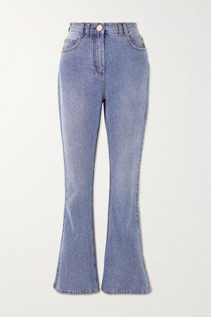 Blue High-rise bootcut jeans | Balmain | NET-A-PORTER
