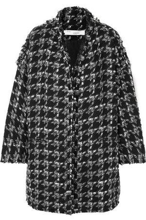 IRO | Trouble oversized houndstooth bouclé coat | NET-A-PORTER.COM