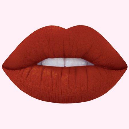 Pumpkin: Spice Brick Red Matte Velvetines Vegan Lipstick - Lime Crime