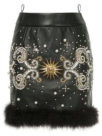 Fausto Puglisi Jewelled Mini Skirt FMD4080R Black   Farfetch