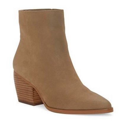 tan booties/boots
