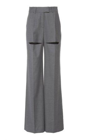 Wide-Leg High-Rise Wool Pants by Boyarovskaya | Moda Operandi