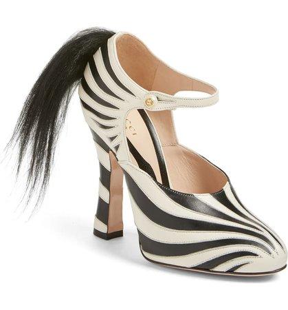 Gucci 'Lesley' Zebra Stripe Pump (Women) | Nordstrom