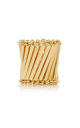 Linea 18K Gold Ring by Karma el Khalil | Moda Operandi