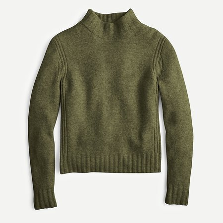 J.Crew: Mockneck Sweater In Supersoft Yarn For Women