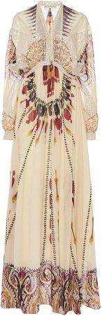 Etro Printed Silk Dress Size: 40