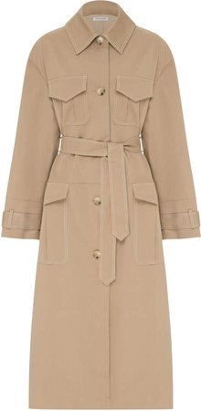 Anna Quan Fletcher Oversized Cotton-Blend Coat