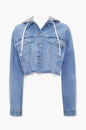 Denim Hooded Jacket | Forever 21