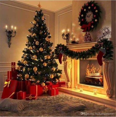 christmas tree fireplace - Google Search