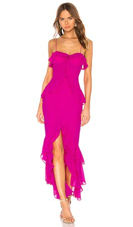 Lovers + Friends Melissa Gown in Magenta | REVOLVE