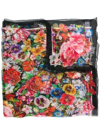 Dolce & Gabbana multicoloured floral print scarf