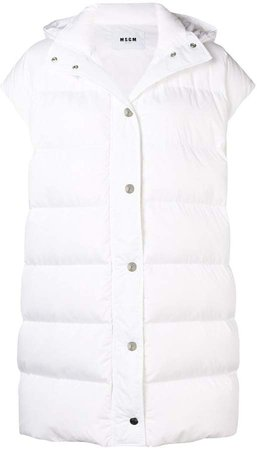 padded button gilet