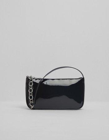 Patent finish shoulder bag - Accessories - Woman   Bershka