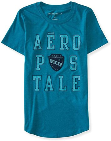 AEROPOSTALE Womens Ny City Est. Crest Graphic T-Shirt