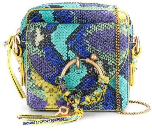 Joan snake-effect crossbody bag