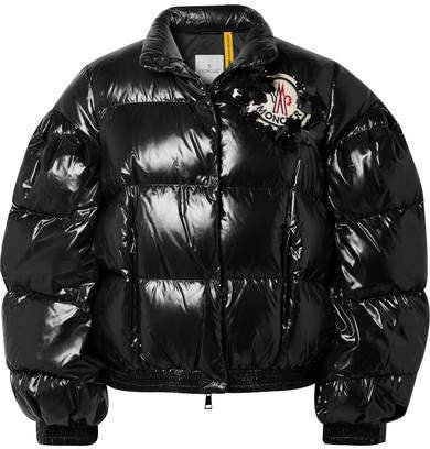 Moncler Genius - 4 Quilted Glossed-shell Down Jacket - Black
