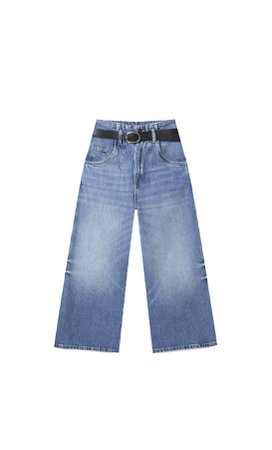 Paperbag culotte jeans - Women's Just in | Stradivarius United States
