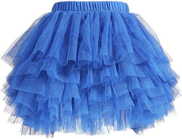Amazon.com: Baby Girls' Tutu Skirt Toddler 6 Layered Tulle Tutus 1-8T Blue: Clothing