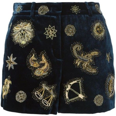 Emilio Pucci Zodiac Embroidered Shorts
