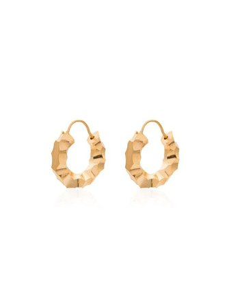 All Blues Carved Gold Vermeil Mini Hoop Earrings - Farfetch