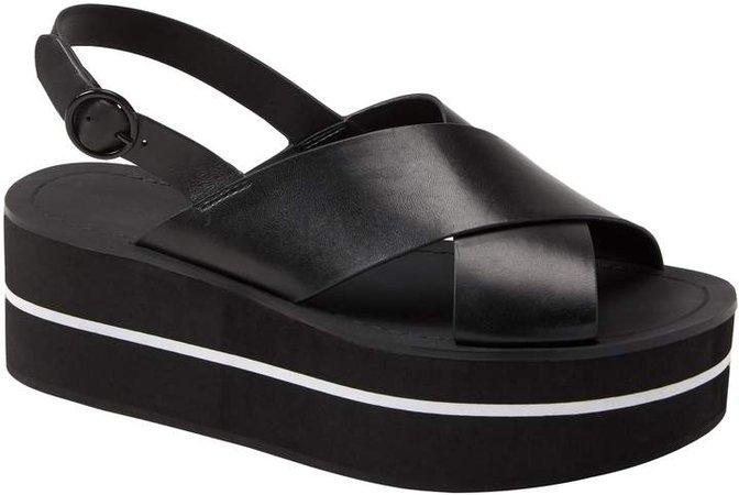 Crossover Flatform Sandal