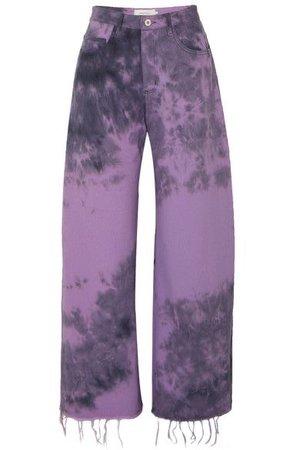 purple tie dye pants