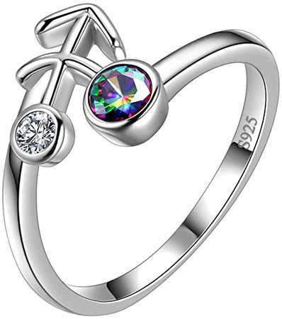 Amazon.com: Aurora Tears Zodiac Necklace Women 12 Constellation Horoscope Sign 925 Sterling Silver Mystic Rainbow Topaz Astrology Star Pendant Birthday Gifts Fire Topaz Present DP0218G: Jewelry