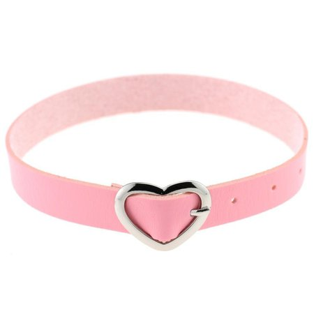 Pink Belt With Heart Buckle