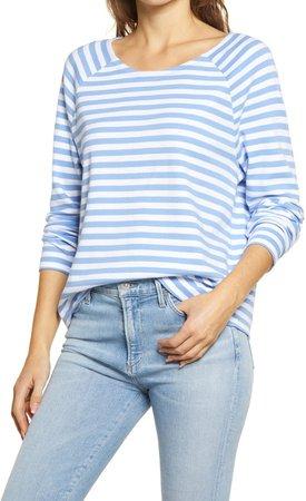 Stripe Raglan Long Sleeve T-Shirt