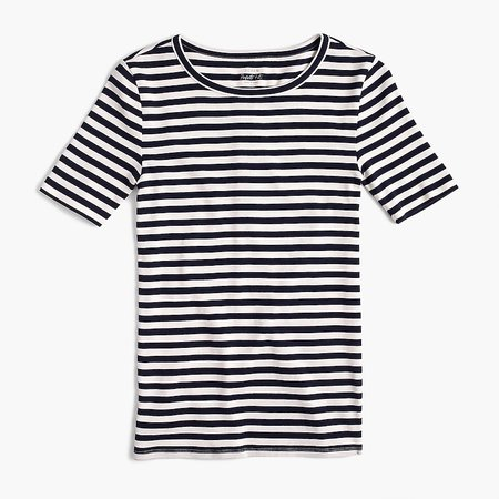 J.Crew: Slim Perfect T-shirt In Stripe For Women