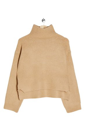 Topshop Crop Funnel Neck Sweater | Nordstrom