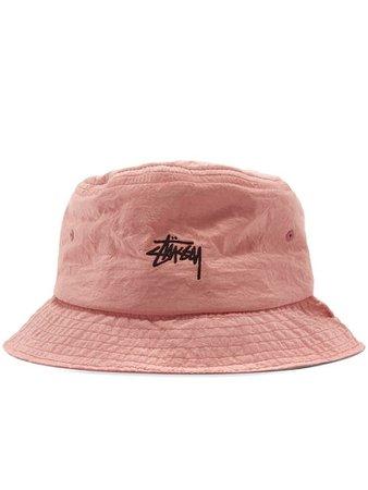 Pink stussy bucket hat