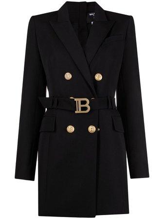 Balmain Belted Blazer Dress - Farfetch
