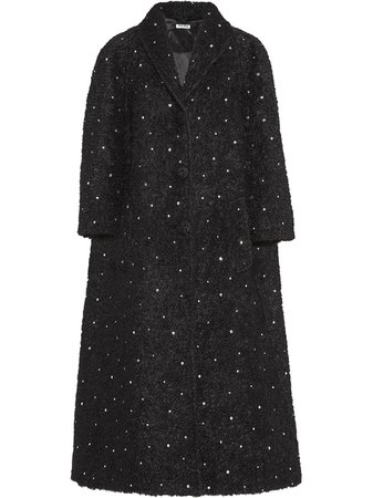 Miu Miu, Crystal Embellished Long Coat